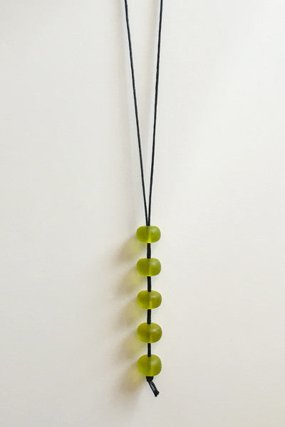 Peppermints Necklace in Lime Resin