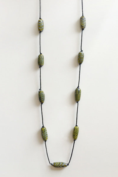 Millefiori Necklace in Green/Various