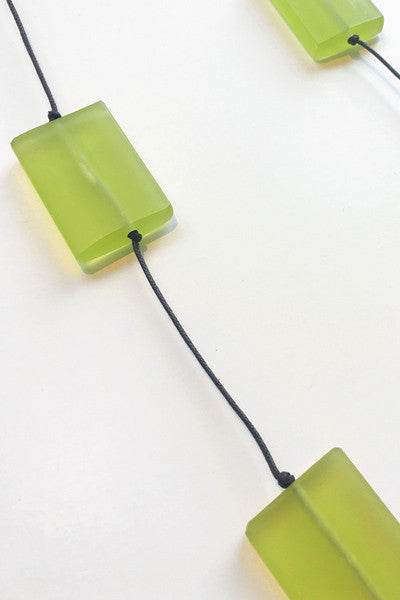 Bloc Necklace in Lime Resin