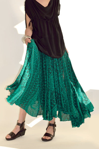 Full Circle Skirt in Jaipur Delphi