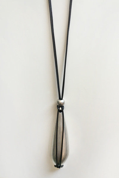 String Element Necklace in Silver Tone