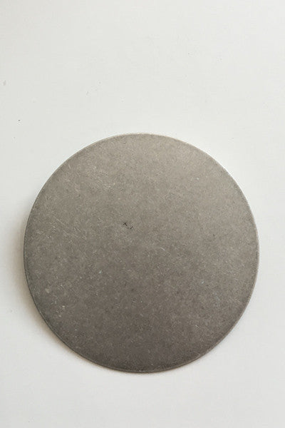 Disc Brooch in Brushed Silver