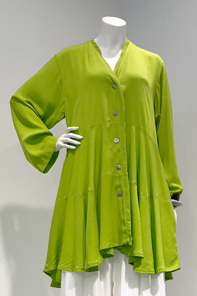 Brussels Jacket in Lime Crinkle