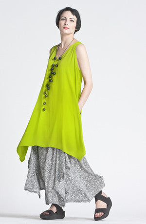Tahiti Top in Lime Crinkle