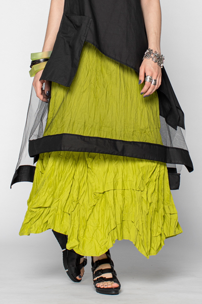 Manifold Skirt in Lime Carnaby