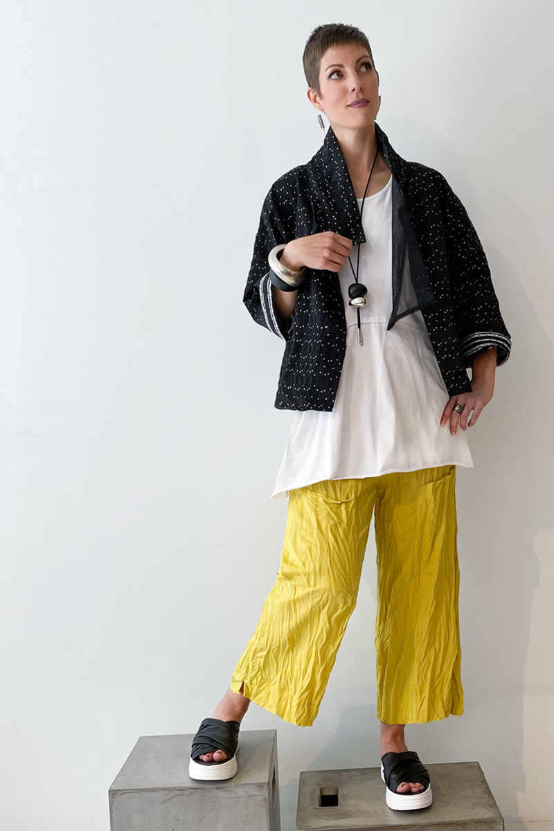 Shown w/ Dots Jacket and Twisted Pocket Pant