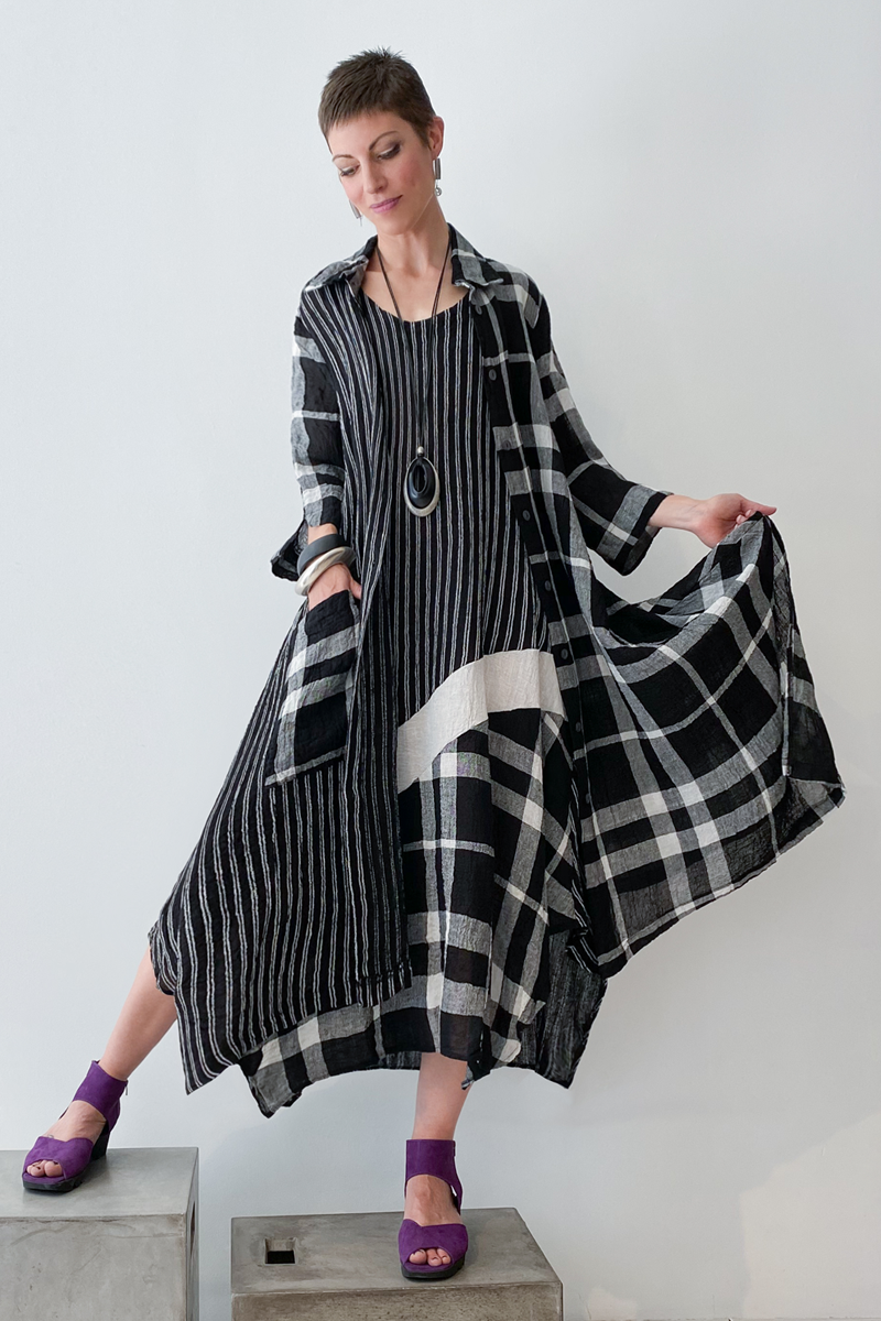 Shown w/ Plaid Long Coat