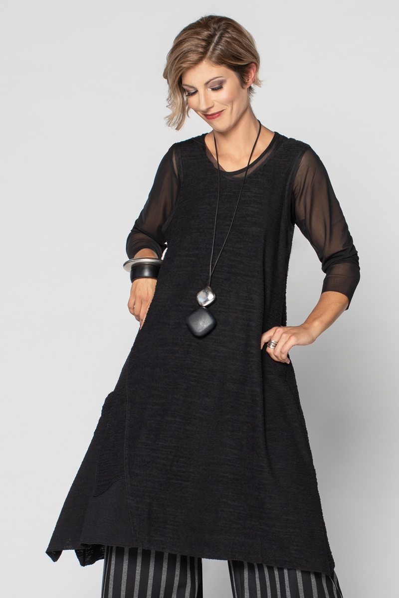 LUUKAA Rachel Dress in Black Knit