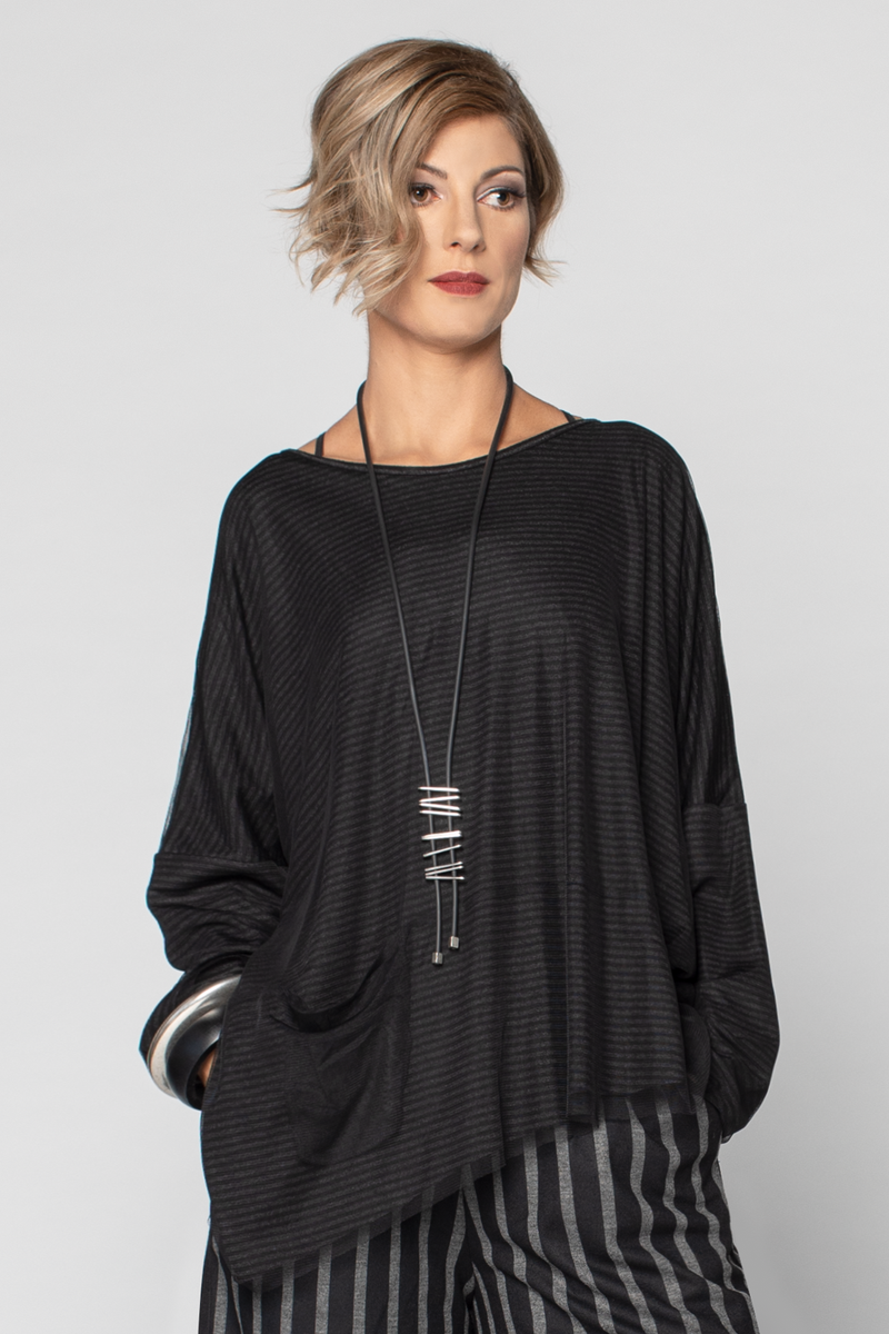LUUKAA Verona Tunic in Black Mesh