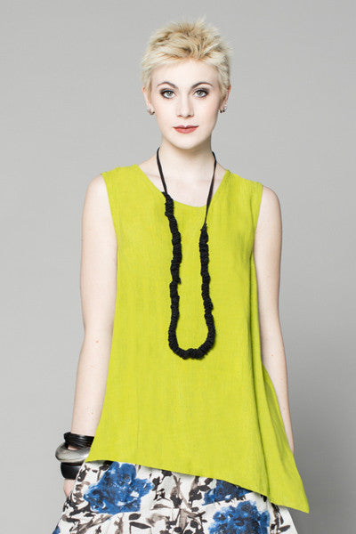 Kura Top in Lime Papyrus