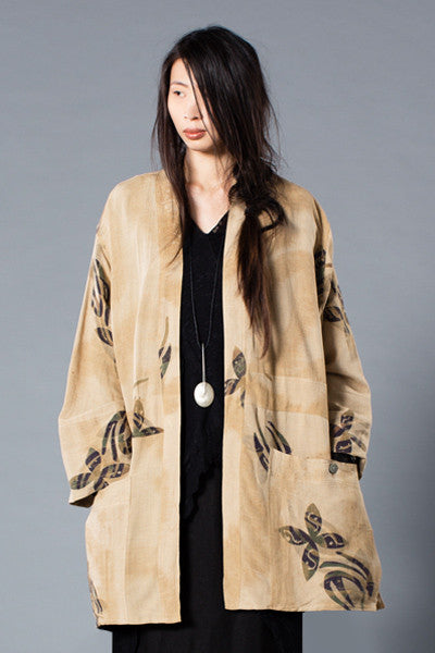 Long Jacket in Meadow Papyrus