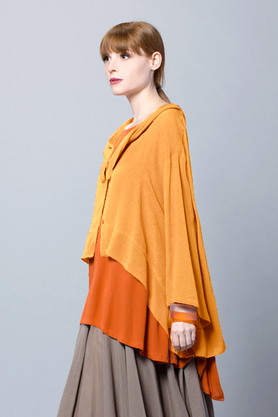 Ginko Jacket in Mango Crinkle