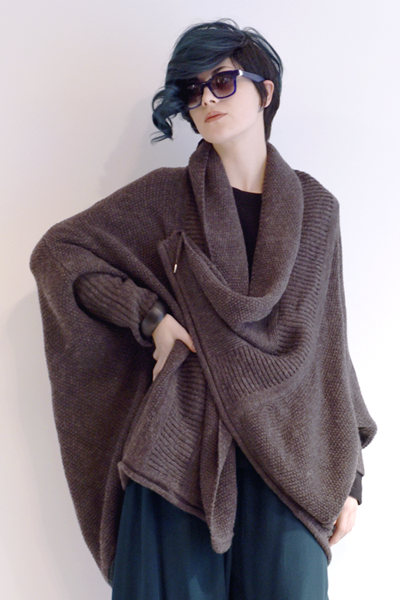 Moyuru Wrap Sweater in Anthracite Grey