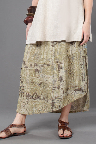 Diagonal Skirt in Moraine Print Papyrus