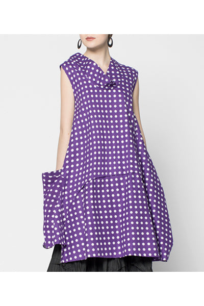 Oslo Dress in Muscari Polka Dots Carnaby