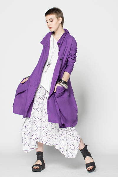 Moka Skirt in Purple Carre Carnaby