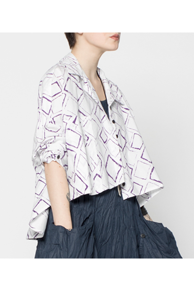 Selavie Shirt in Purple Carre Carnaby
