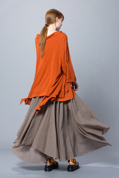Full Circle Skirt in Mushroom Delphi