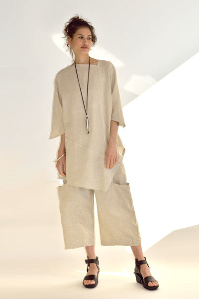 Side Pocket Pant in Natural Roma