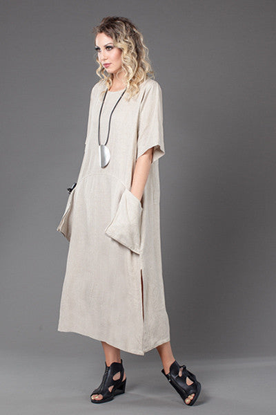 A-Line Dress in Natural Roma