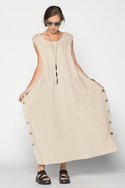 Square Dress in Natural Roma