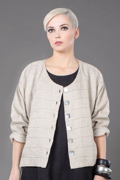 Anna Crop Jacket in Natural Roma