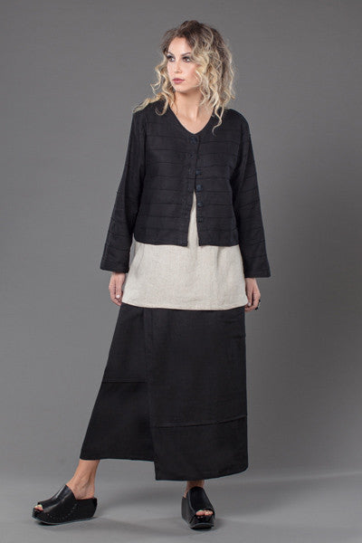 Shown w/ Quadra Overlap Skirt and Anna Crop Jacket