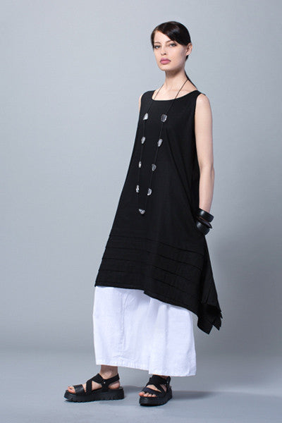 Higashi Top in Black Napoli