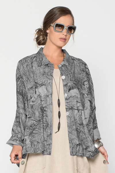 New York Jacket in Grey Net Roma