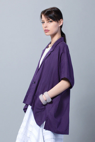 Minimalist Jacket in Crocus Napoli