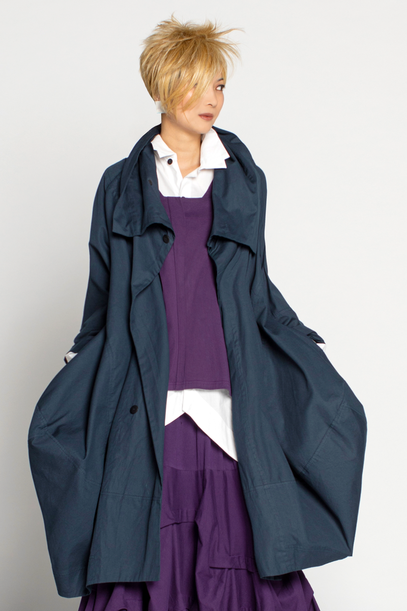 Lancaster Coat in Navy Canvas
