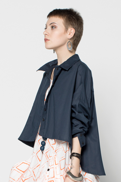 Selavie Shirt in Navy Carnaby