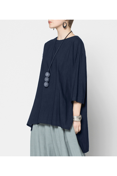 Longback Top in Navy Roma