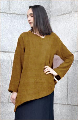L/S Peking Top in Olive Roma