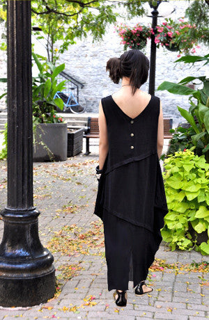 Diamond Dress in Black Papyrus