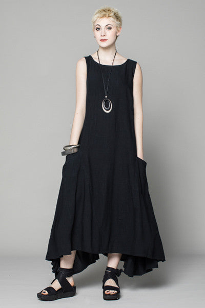 London Dress in Black Papyrus