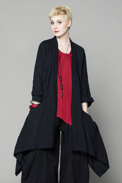 Wrap Jacket in Black Papyrus