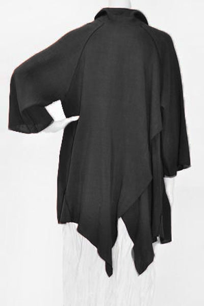 Pointy Jacket in Black Papyrus