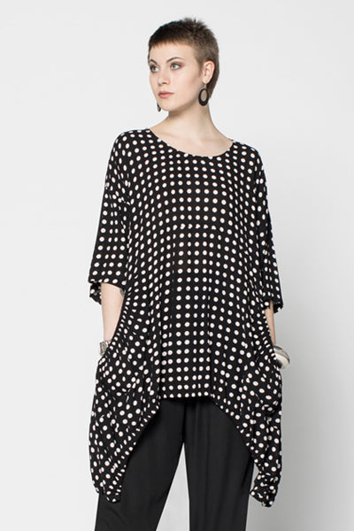 Kipas Top in Polka Dots Crinkle