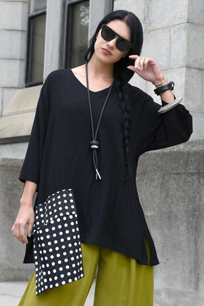 One Pocket Top in Polka Dots Carnaby