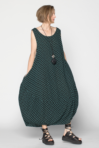 Acqua Dress in Palmetto Crinkle