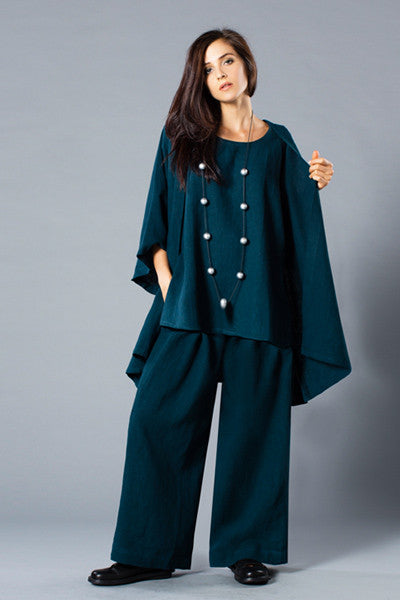 Shown w/ Short Kimono Jacket and Palazzo Pant