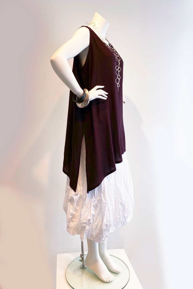 N/S Peking Top in Plum Papyrus