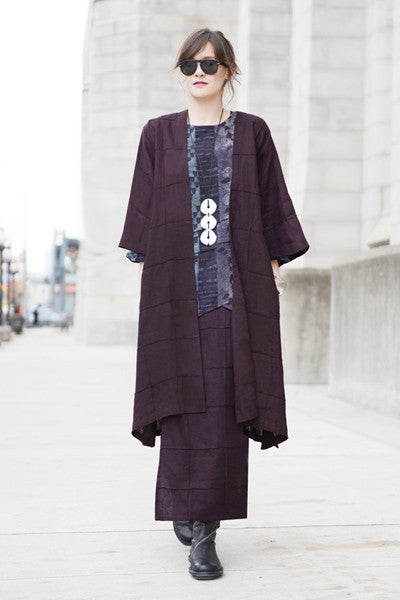 Shown w/ Quadra Overlap Skirt and Long Quadra Kimono Jacket