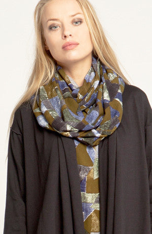 Crinkle Scarf in Picasso Crinkle