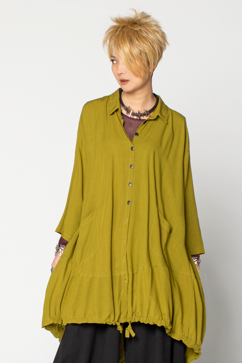 Marin Shirt in Green Chartreuse Boston