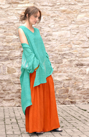 Shown w/ Diagonal Tank and Short Kimono Jacket