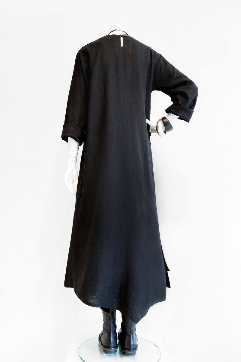 L/S Wao Dress in Black Roma