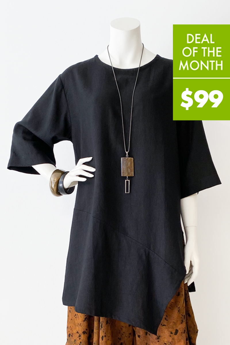 Nagano Tunic in Black Roma