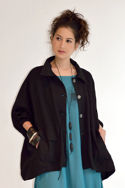 New York Jacket in Black Roma
